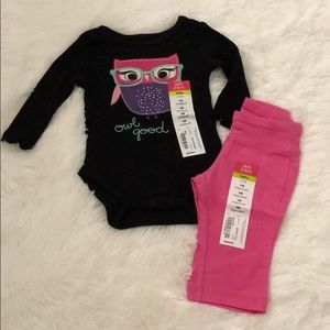 Owl Onesie and Pant Set